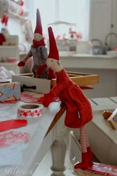 100 Brilliant Projects to Upcycle Leftover Fabric Scraps - Adjourna Danish Christmas, Scandinavian Christmas, Christmas Elf, Christmas Crafts, Christmas Decorations, Xmas, Holiday Decor, Christmas Kitchen, Leftover Fabric