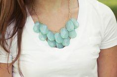 Aqua Mint Statement Necklace - Bib Necklace. $42.00, via Etsy.