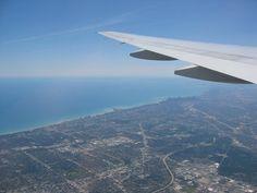 Chicago - nad mistem i lotniskiem Ohare Chicago - Illinois - USA #Chicago #Illinois #USA #photography #city #Polacy_w_USA #Polonia #wietrzne #miasto #windy #city