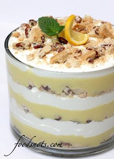 Lemon Bar Trifle - This takes some time to prepare but it tastes old-fashioned & delicious! Like Lemon Lush in parfait form! Rating: 5/5