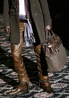 Brown Leather Pants. Leather Boots.    Where have these been all my life? I NEED them. The pants AND the boots.