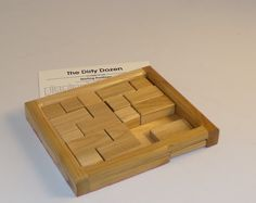 Dirty Dozen Puzzle. Twelve games in one- Each Puzzle is more Difficult than the last one