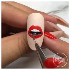 Acrylic nail art 701857923160301182 - Would you ever try this amazing nail art? Nail Art Designs Videos, Nail Design Video, Nail Art Videos, Cartoon Nail Designs, Nails Design, Diy Acrylic Nails, Acrylic Nail Designs, Diy Nails, Rose Nail Art