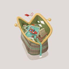 Cassa Rurale Alto Garda - Calendar 2017 on Behance Travel Illustration, Character Illustration, Graphic Design Illustration, Digital Illustration, Vector Illustrations, Isometric Art, Isometric Design, Pc Drawing, Creative Poster Design