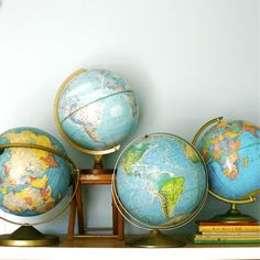 Geography 101...Vintage Globe Collection by ethanollie on Etsy