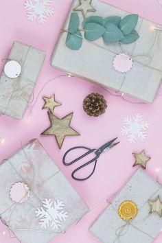 DIY Geschenkpapier und Geschenkanhänger aus FIMO selber machen
