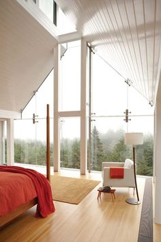 Mountains of glass, would love to watch it snow here while laying in bed.