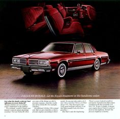 1981 Oldsmobile Delta 88 Royale Brougham Sedan, I learned how to drive with this car...could parallel park this boat too!!