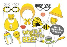Hey, I found this really awesome Etsy listing at https://www.etsy.com/listing/198010476/bumble-bee-baby-shower-photo-booth-party