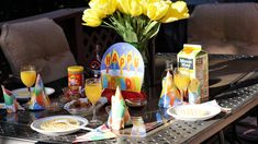 Tandra Wilkerson Waffle Bar Birthday Brunch   https://www.thrillermom.com/blog/birthday-waffle-bar