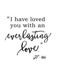 FREE printable reminder of God's everlasting love | The Harper House