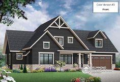 Color version 3 - Front Transitional Style Home, large unfinished bonus space, pantry & laundry, master suite - Gailon 4