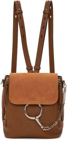Chloé Tan Small Faye Backpack