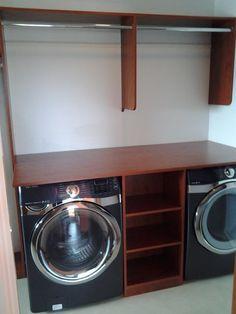 I Like This Washer And Dryer Idea. Master Closet ...