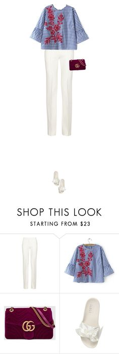 """""""Untitled #821"""" by vjdfashion ❤ liked on Polyvore featuring Victoria Beckham, WithChic, Gucci and Puma"""
