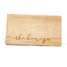 Personalized Last Name Wood Cutting Board. lowercase