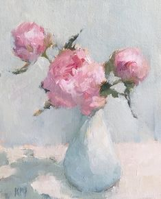 Oil painting Flowers art blank stretched canvas the beauty of oil painting with gary and kathwren jenkins peony canvas art easy canvas painting for beginners Easy Canvas Painting, Watercolor Paintings Abstract, Watercolor Illustration, Canvas Art, Watercolor Artists, Abstract Oil, Painting Art, Blank Canvas, Painting Flowers Tutorial