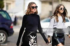 Olivia Palermo arrives at Nina Ricci show as part of the Paris Fashion Week Womenswear Spring/Summer 2018 on September 29 2017 in Paris France