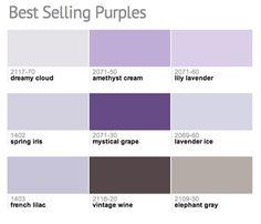 Best-selling hues from @Benjamin Moore!