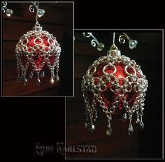 Handcrafted Chain Maille ornament cover :-)