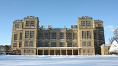 South View of the House in the Snow © NT/hardwick/ beautiful Hardwick Hall