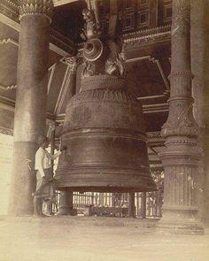 1880 Shwe Dagon Pagoda's Bell of Myanmar(Burma) #1880 #oldpic #oldpicture #oldphoto #oldtimes #burma #myanmar #buddhisttemple #travel #trip #traveller #travelingram #travelling #acient #acientburma #travelquote #burmese #historypic #history...