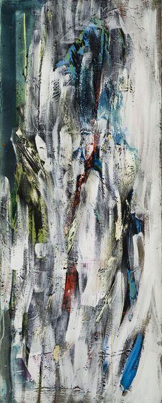 Sans titre (no197) - Marcelle Ferron - Galerie Simon Blais - 5420, boul. St-Laurent, Montréal. Follow the biggest painting board on Pinterest: www.pinterest.com/atelierbeauvoir