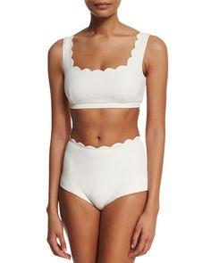 0635124e305 Marysia Palm Springs Off White Swim Bottoms I Neiman Marcus Two Piece  Swimwear, Swim Bottoms