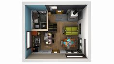 3D Modern Tiny Home Plans for New Couple