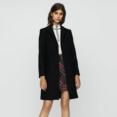 Maje official UK website, discover our ready-to-wear collection and accessories for women. Maje, Collars, Ready To Wear, Duster Coat, Wool, Suits, Chic, Long Sleeve, How To Wear