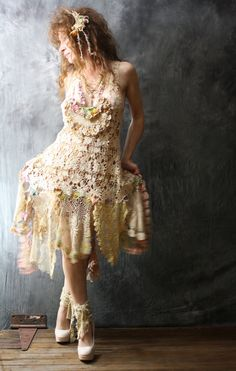 Romantic Bohemian Fairy Crochet Lace Dress. For more follow www.pinterest.com/ninayay and stay positively #pinspired #pinspire @ninayay