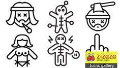 Icon set - Nasty - Zizaza item for