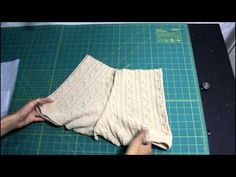 How To Turn a Man's Sweater Into a Pair of Sweater Shorts, a Set of Leg Warmers, and Beret