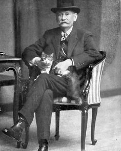 Benito Pérez Galdós (España 1843-1920). #cats #retrato