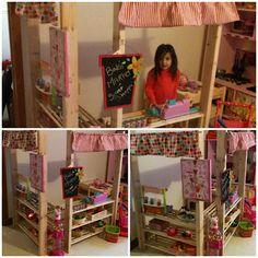 Play Market using wooden shoe racks!!!