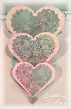 Cupid Triple-Heart Easel