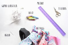 Aprence how to make your cloth cloth DIY - Materials to make DIY cloth collectors step by step, seen in - Diy Hair Scrunchies, How To Make Scrunchies, Diy Paso A Paso, Brooklyn And Bailey, Fabric Headbands, Fitness Workout For Women, Diy Hairstyles, Diy Clothes, Diy And Crafts