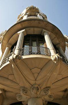 Barcelona - Passeig de Gràcia, Casa Fuster Barcelona Hotels, Barcelona Travel, Barcelona Spain, Art Nouveau Architecture, Art And Architecture, Architecture Details, Belle Epoque, Hector Guimard, Cities