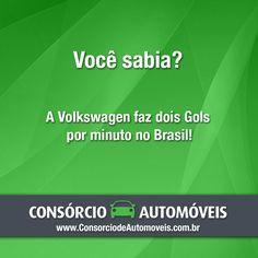 A montadora produz 2 Gols por minutos aqui no Brasil.  Acesse nossa matéria e saiba sobre o modelo: https://www.consorciodeautomoveis.com.br/noticias/consorcio-gol-2015-sem-entrada-e-sem-juros-em-ate-80-meses?idcampanha=206&utm_source=Pinterest&utm_medium=Perfil&utm_campaign=redessociais
