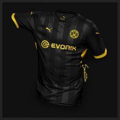 Incredible Puma Borussia Dortmund Home, Away & Third Concept Kits by Saintetixx - Footy Headlines Soccer Kits, Football Kits, Team Shirts, Sports Shirts, Rugby Jersey Design, Camisa Nike, Sport Shirt Design, Foto Top, Sports Uniforms