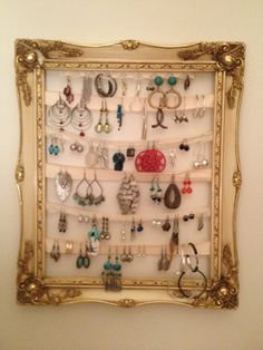 musings: Cutest Earring Holder DIY mmm...i might just do this for my earrings