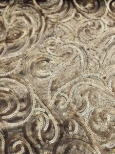 "Glamour and Glitz - Aunty Ann's 80th? Gold Stunning Sequence Mesh Fabric - Dress Making - By Yard - 60""/150cm Wide in Crafts, Fabric 