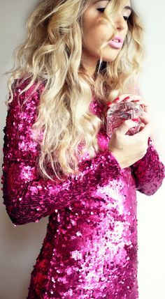 I hate pink and sequins but for some reason I really love the look of this dress