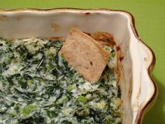 Hot Spinach Dip: You can never go wrong with a heaping helping of hot spinach dip for a crowd-pleasing appetizer.
