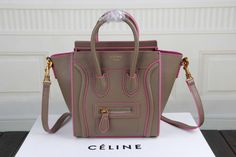 Celine Nano Luggage Bag in Tan Smooth Calfskin Violet - $269.99 http://www.lhbon.com/celine-nano-luggage-bag-in-tan-smooth-calfskin-violet-p-498.html