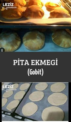 Pita Bread (Gobit) - Dessert and food . - Pita Bread (Gobit) – Desserts and dishes # Bread to Pita Bread (Go - Pasta Recipes, Bread Recipes, Turkish Recipes, Ethnic Recipes, Pain Pita, No Knead Bread, Breakfast Toast, Pita Bread, Pitaya