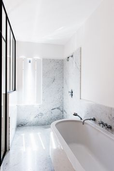 renovation VDP house - 1st floor #renovation #bathroom #bath #marble #carrara #VDPhouse