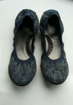 f3dc49ad638 GIRLS BLUE BALLET FLATS BIG KIDS SIZE 7.5  fashion  clothing  shoes   accessories