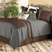 Rustic Bedding & Cabin Bedding - Black Forest Decor Great colours for a teen boys room