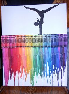 gymnastics melted crayon painting is part of Crayon art melted - Gymnastics Melted Crayon Painting Crayonart Ideas Gymnastics Crafts, Gymnastics Room, Gymnastics Stuff, Crayon Painting, Watercolor Painting, Crayon Crafts, Wow Art, Melting Crayons, Cute Crafts